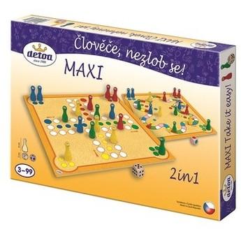 Hry a hlavolamy - Člověče nezlob se maxi 2 in1