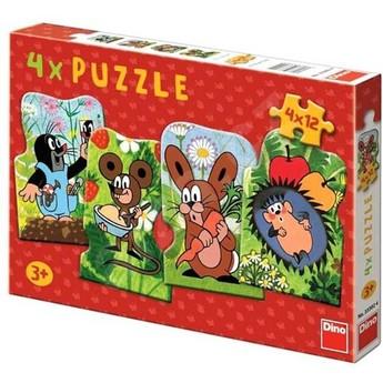 Puzzle - Krteček 4 x 12 dílů