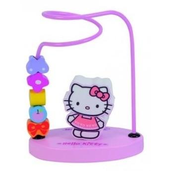 Motorické a didaktické hračky - Motorický labyrint Hello Kitty, růžová