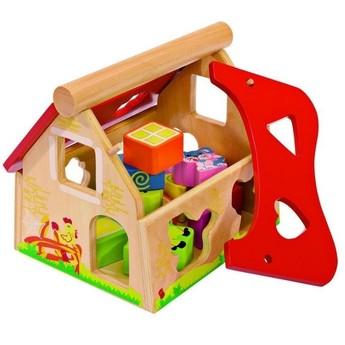 Motorické a didaktické hračky - Veselý vkládací domeček