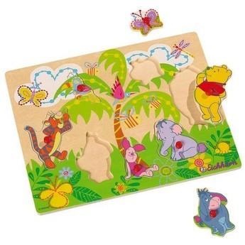 Puzzle - Dřevěné puzzle Medvídek Pú