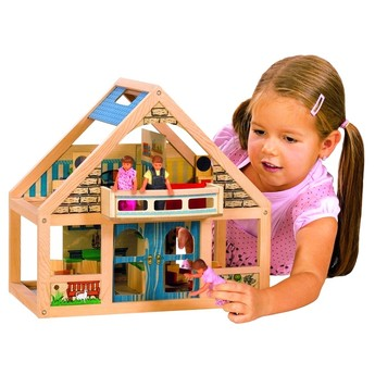Pro holky - Domeček pro panenky s nábytkem, panenkami