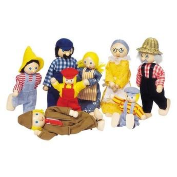 Pro holky - Panenky do domečku – farmářova rodina