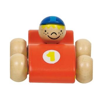 Dřevěná závodnička - oranžová