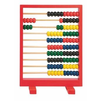 Školní potřeby - Dřevěné počítadlo, červené
