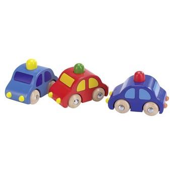 Pro kluky - Dřevěné autíčko s houkačkou - žlutý maják
