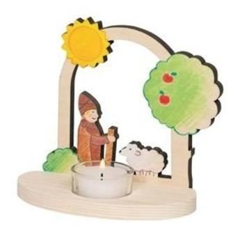 Výtvarné a kreativní hračky - Svícen na čajovou svíčku Pastýř s ovečkou