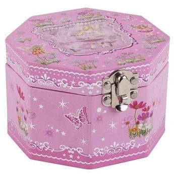 Pro holky - Hrací skříňka šperkovnice – Víla a kytičky