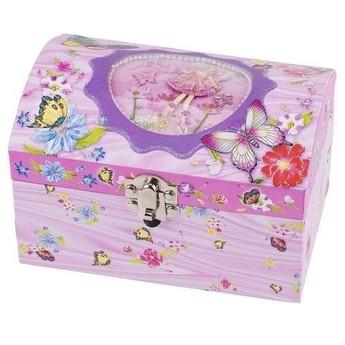 Pro holky - Hrací skříňka šperkovnice – Víla s motýlky