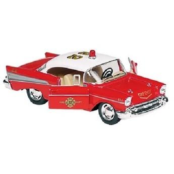 Autíčko se zpětným natahováním Chevrolet Bel Air 1:40, červené
