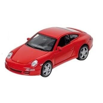 Pro kluky - Autíčko se zpětným natahování Porsche 1:34, červené