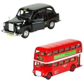 Pro kluky - Autíčka autobus a taxi Londýn se zpětným chodem
