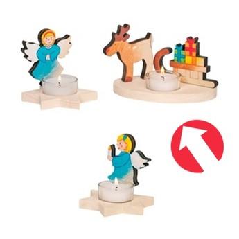 Výtvarné a kreativní hračky - Svícen na čajovou svíčku k vymalování - Sob