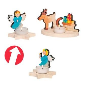Výtvarné a kreativní hračky - Svícen na čajovou svíčku k vymalování - Anděl