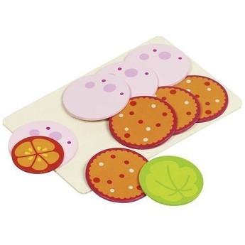 Doplňky pro dětskou kuchyňku – kolečka salámu na prkýnku