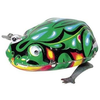 Plechové hračky - Skákací žába s pohybujícíma očima