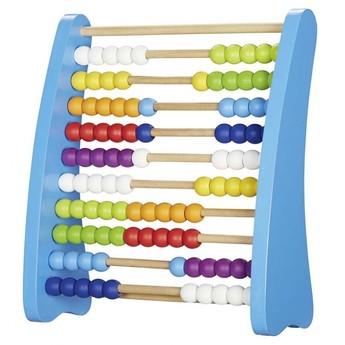 Školní potřeby - Počítadlo se 100 dřevěnými perličkami barevné, velké