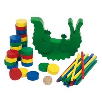 Motorické a didaktické hračky - Dovednostní hra – Balancující krokodýl