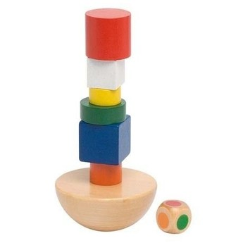 Motorické a didaktické hračky - Dovednostní hra – Balancující věž