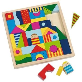 Hry a hlavolamy - Dřevěné stavební kostky – Shalimar