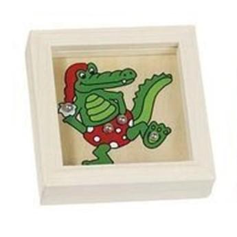 Motorické a didaktické hračky - Kuličky na trpělivost zvířátka - Krokodýl