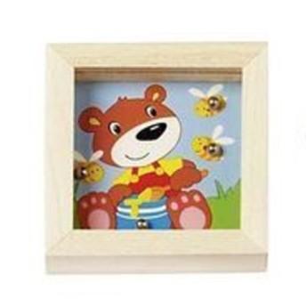 Motorické a didaktické hračky - Kuličky na trpělivost zvířátka - Medvídek