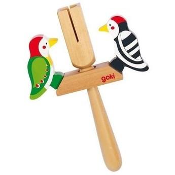 Dětské hudební nástroje - Klapačka datel – hudební i velikonoční hračka