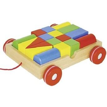 Kostky a stavebnice - Tahací vozík s kostkami