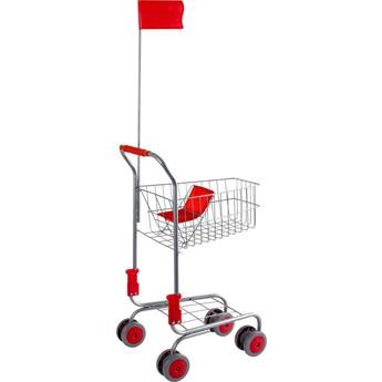 Pro holky - Stříbrný nákupní vozík