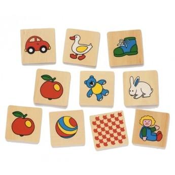 Hry a hlavolamy - Dřevěné pexeso v krabičce II