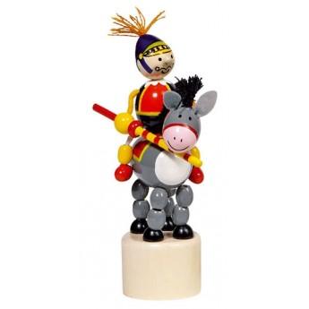Motorické a didaktické hračky - Mačkací figurka – Jezdec na oslíkovi