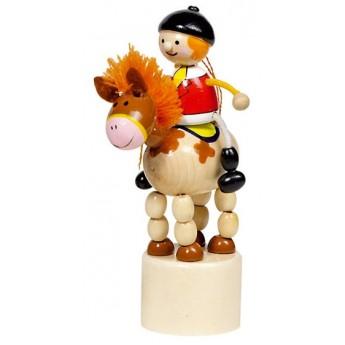 Motorické a didaktické hračky - Mačkací figurka – Jezdec na koni
