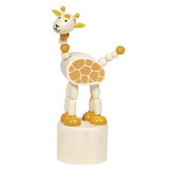 Motorické a didaktické hračky - Mačkací figurky zvířátka Afrika - Žirafa