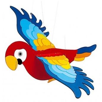 Dětský pokojíček - Dřevěný létající papoušek II