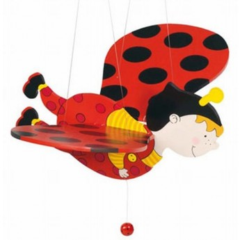 Dětský pokojíček - Dřevěná létající beruška