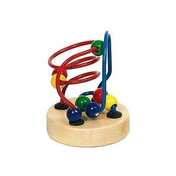 Motorické a didaktické hračky - Mini motorický labyrint - modročervený