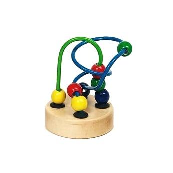 Motorické a didaktické hračky - Mini motorický labyrint - modrozelený