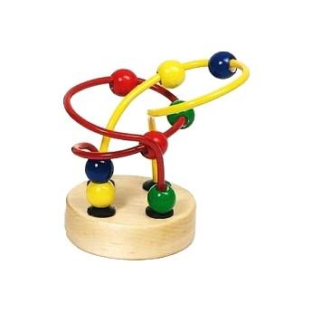 Motorické a didaktické hračky - Mini motorický labyrint - červenožlutý