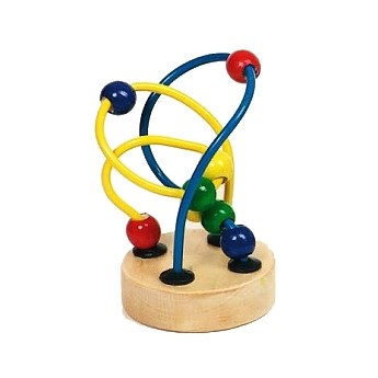Motorické a didaktické hračky - Mini motorický labyrint - modrožlutý