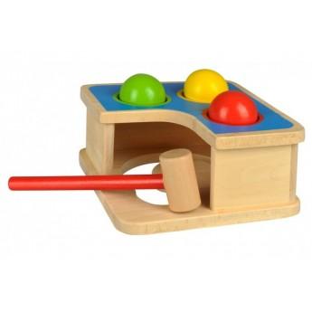 Motorické a didaktické hračky - 2v1 – zatloukačka a kuličková dráha
