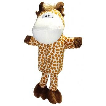 Divadla, loutky, maňásci - Maňásek na ruku 34 cm - Žirafa