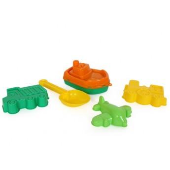 Hračky na ven - Hračky na písek - loď s formičkami
