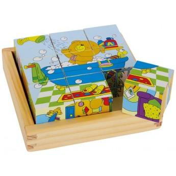 Kostky a stavebnice - Dřevěné kostky Medvídek