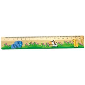 Školní potřeby - Dřevěné pravítko Safari