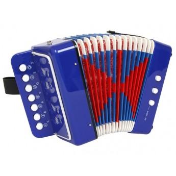 Dětské hudební nástroje - Tahací harmonika modrá