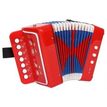 Dětské hudební nástroje - Tahací harmonika červená