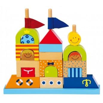 Kostky a stavebnice - Skládací hrad