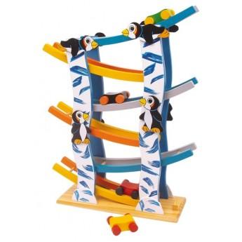 Motorické a didaktické hračky - Kuličková dráha tučňáci