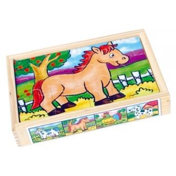 Puzzle - Puzzle v krabičce - Domácí zvířata