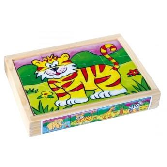 Puzzle - Puzzle v krabičce - Divoká zvířata